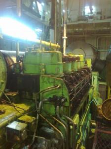 Generator engine repair at anchorage